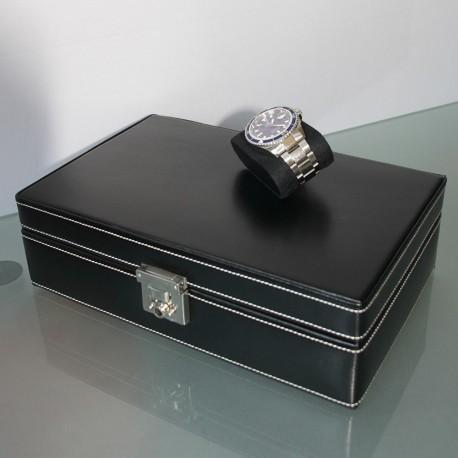 Coffret 10 montres Cuir Noir intérieur noir Friedrich