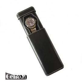 Etui en cuir noir pour 1 montre Geneva