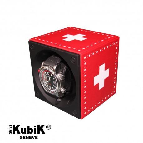 Remontoir Swiss Kubik Cuir Croix Suisse pour montre automatique